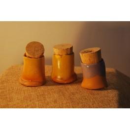Vasetto in ceramica con tappo - P. Biancalana